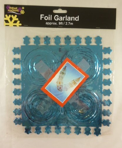 9ft Turquoise Foil Garland Decoration For Frozen Themed ()