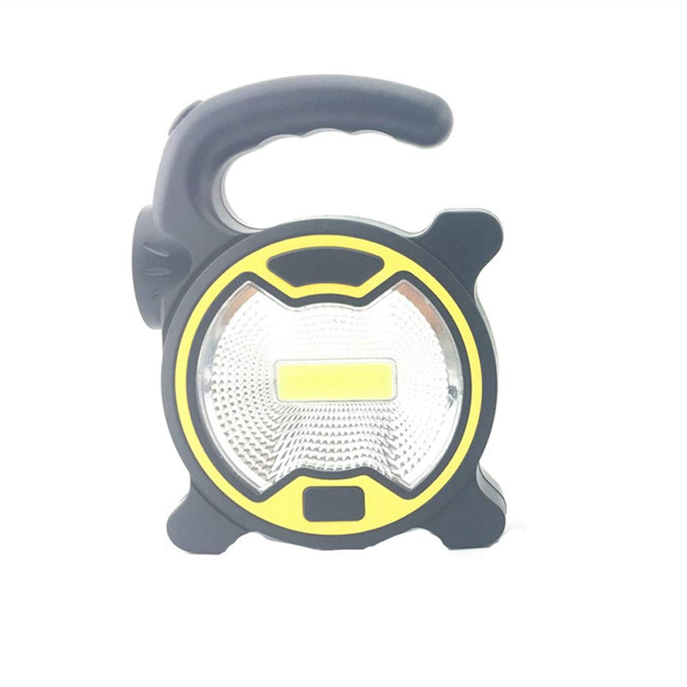 Vickyleb Tactical Flashlight,COB LED Bright Military Flashlight Tent Lantern Light For Outdoor Garden Work Camping Hiking Bivouac (Yellow)