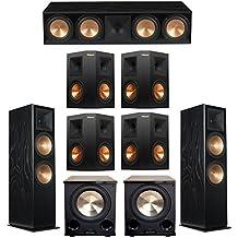 Klipsch 7.2 Black Ash System with 2 RF-7 III Floorstanding Speakers, 1 RC-64 III Center Speaker, 4 Klipsch RP-250S Surround Speakers, 2 Klipsch PL-200II Subwoofers