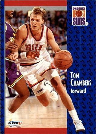 Amazon 1991 Fleer Basketball Card 92 158 Tom Chambers Near Mint Collectibles Fine Art
