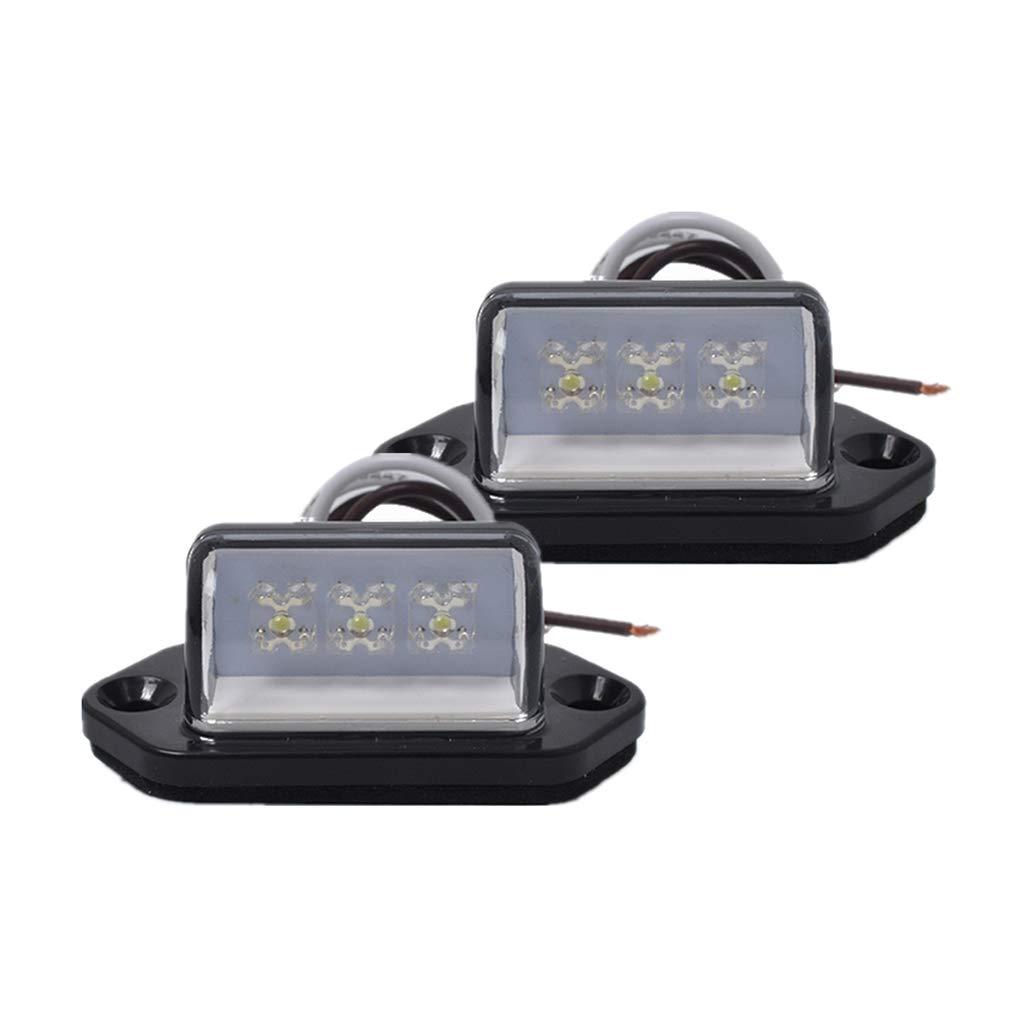 24V /éclairage Automatique /étanche Lorsoul 1 Paire 3LED Licence arri/ère Plaque dimmatriculation Lampe Camion remorque Bateau Caravane 12V