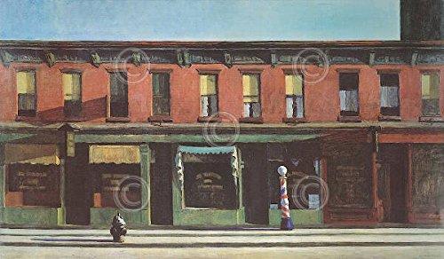 Early Sunday Morning, c.1930 Art Print by Edward Hopper 14 x 11in
