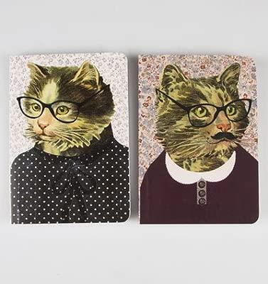 Cuaderno de notas diseño gatos disfrazados, set de 2: Amazon ...