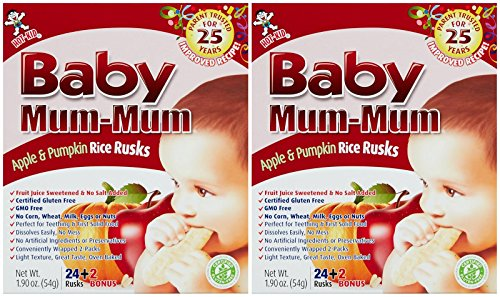 Mum Mum Rice Biscuits - Apple - 1.76 Oz - 2 Pk