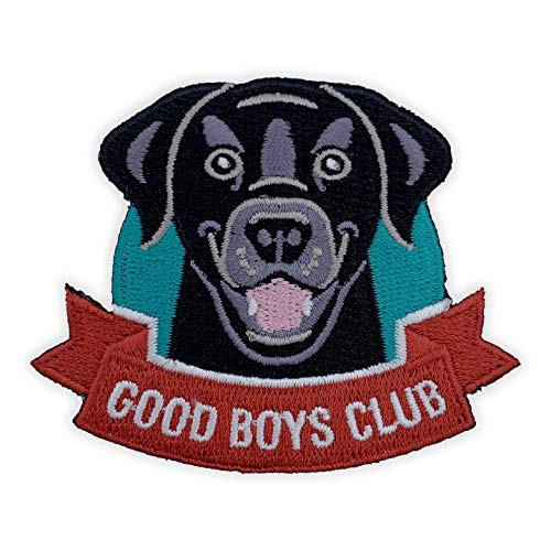 Wasted Days Good Boys Club Dog Patch 100% Embroidered Iron On or Sew On Animal Novelty Applique