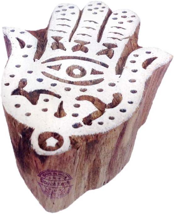 Royal Kraft Henna Drucken Stempel Gott Shiva Designs Holzbl/öcke DIY Henna Stoff Textil Papier Ton Keramik Blocke Druckstempel