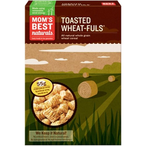 Mom's Best Cereal-Wheat-Fuls Toasted, 24-Ounce (Pack of 4)