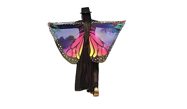Xmiral Carnaval Disfraz de Chal de Alas de Mariposa Niñas ...