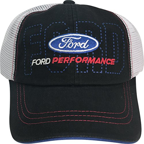 Checkered Flag Sports Ford Performance Reverse Stitch Two Tone Mesh Back Adjustable Cap Hat