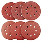 5 Inch Sanding Discs Sandpaper Assorted 60 80 120 180 240 320 Grits for Power Random Orbit Sanders - 60PCS