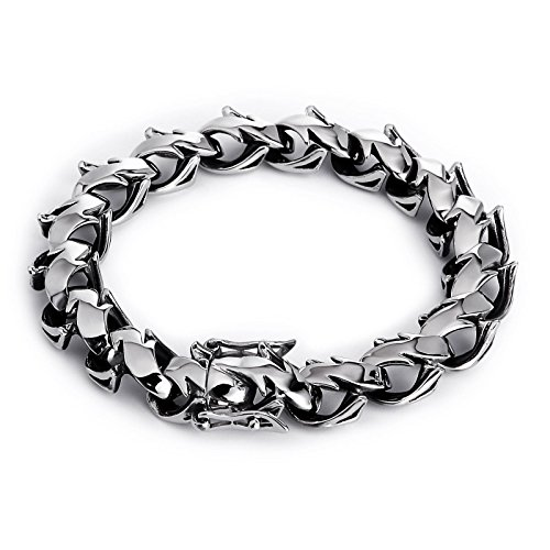 Amazon.com: Epinki Bracelet for Stainless Steel Wide Silver ...