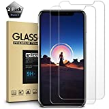 iPhone X Screen Protector, 【2-Pack】Apple iPhone X Tempered Glass Anti-Scratch Shockproof Protection【Case Friendly】for Apple iPhone X /10 (2017 Released)