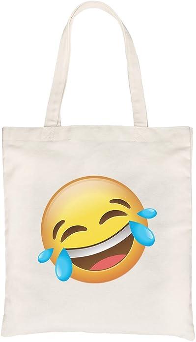 365 Print Emoji-Laughing - Bolso Bandolera de Lona para Disfraz de ...