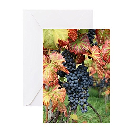 CafePress - Wine Grape Pinot Noir - Greeting Card, Note Card, Birthday Card, Blank Inside Glossy - Edge Pinot