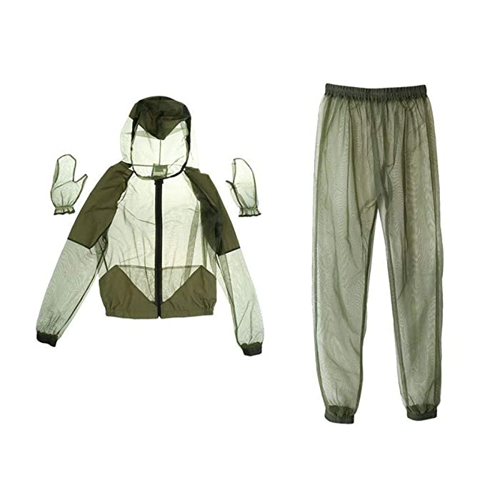 2 Piezas Chaquetas Anti-Mosquito de Malla Traje Repelente de Secado R/ápido Blanco Deporte Protecci/ón