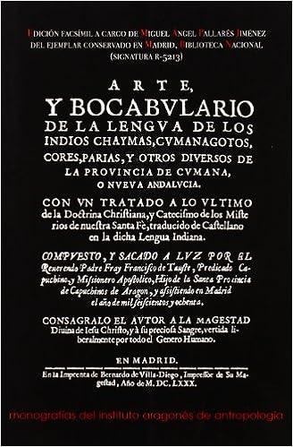 Book Arte y bocabulario de la lengua de los indios chaymas