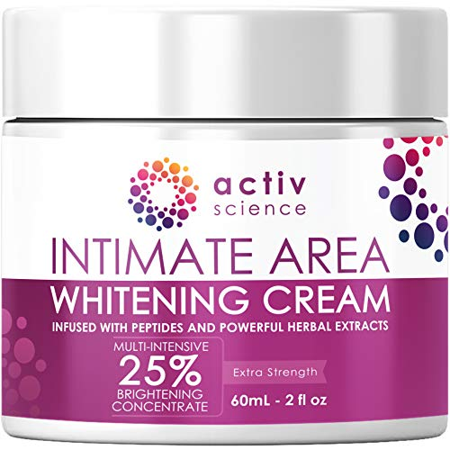 ACTIVSCIENCE Whitening Cream for Face, Sensitive & Intimate Areas - Skin Lightener Whitening for Sensitive Spots, Private Areas Parts, Underarm Armpit, Dark Spots - All Skin Types 2fl oz