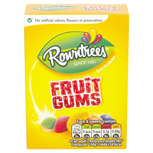 Rowntrees Fruit Gums Carton 125g - Buy Online in Kuwait  | Grocery