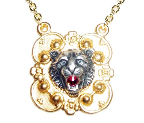 Art Deco Figural - Victorian TIGER Necklace Figural Wildlife Cat