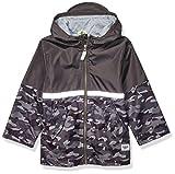 Osh Kosh Boys' Little Perfect Rainjacket Rainslicker Raincoat, Gray with Reflective, 7