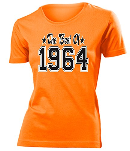 THE BEST OF 1964 - DELUXE - Birthday mujer camiseta Tamaño S to XXL varios colores Naranja