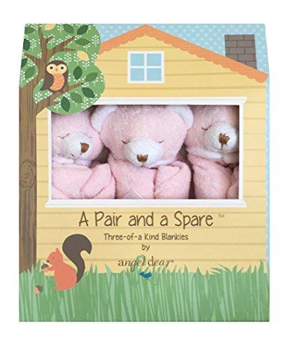 Angel Dear Pair And A Spare, Pink Bear