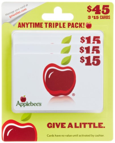 Applebee's Gift Cards, Multipack of 3 - $15