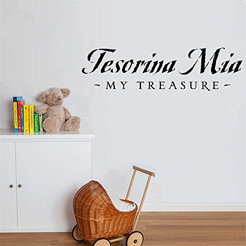 fiupy Wall Sticker Lettering Quotes and Saying Tesorina Mia