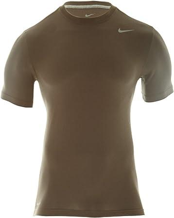 Nike Dri-fit - Camiseta de algodón (grande, gris ahumado, plata): Amazon.es: Deportes y aire libre