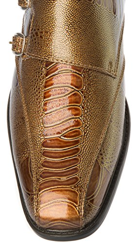 Parrazo Mens Slip-On Oxfords-Shoes PU Leather Casual Fashion or Formal Business Dress Brown nJIuJqb