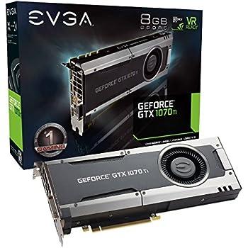 EVGA GeForce GTX 1070 Ti GAMING, 8GB GDDR5, EVGA OCX Scanner OC, White LED, DX12OSD Support (PXOC) Graphics Card 08G-P4-5670-KR (Renewed)