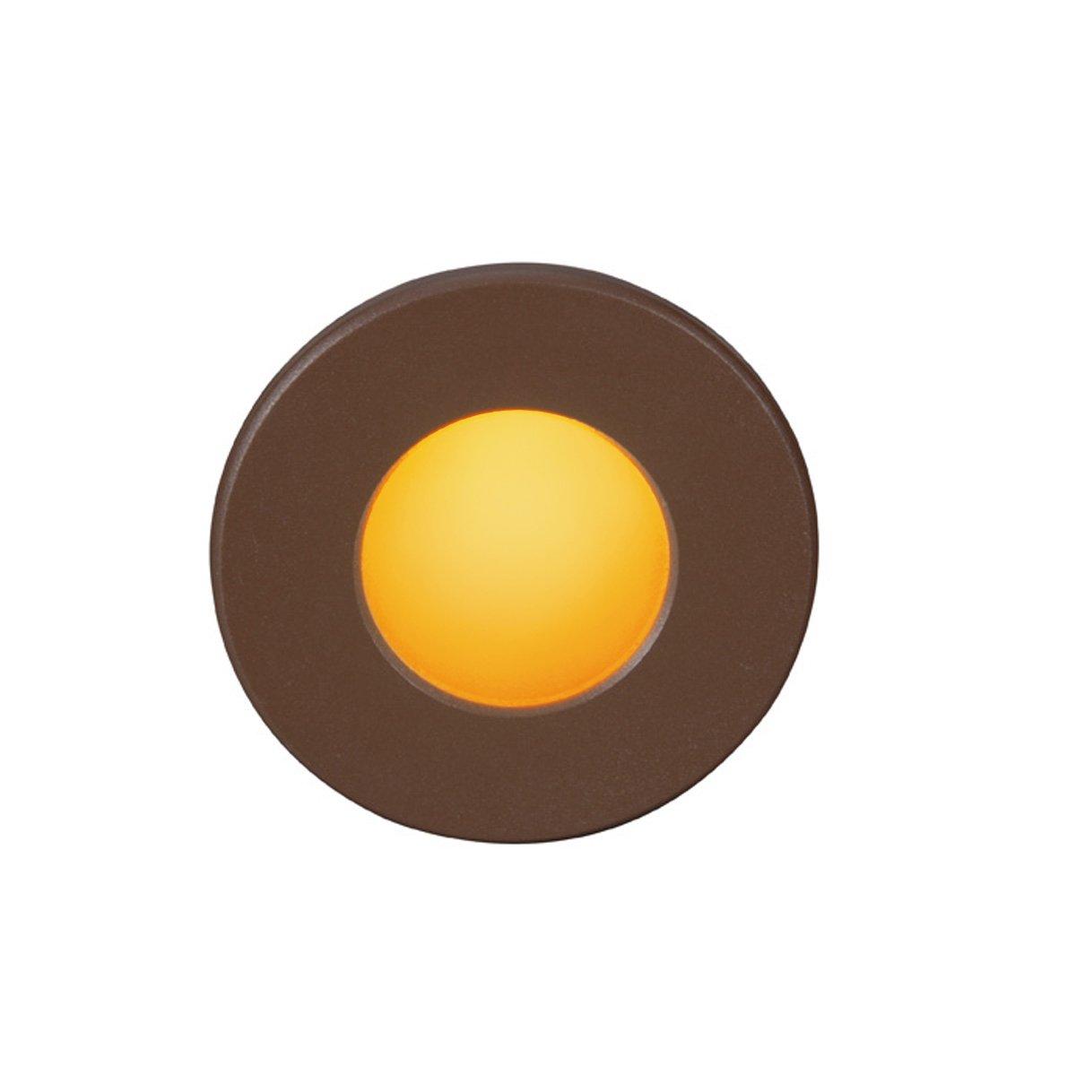 WAC Lighting WL-LED310-AM-BZ Ledme Full Round Amber Step and Wall Light, Bronze