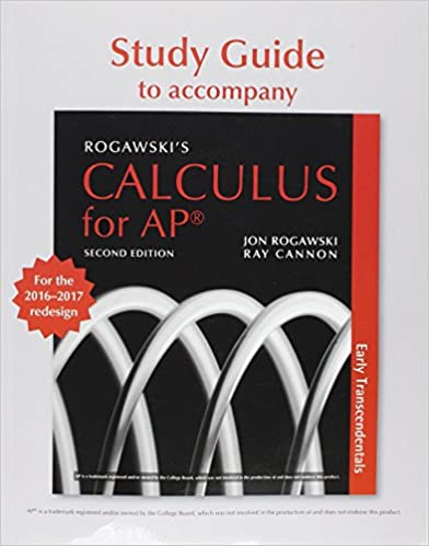 Student guide for ap calculus redesign to accompany rogawskis student guide for ap calculus redesign to accompany rogawskis calculus for the ap course 2nd edition fandeluxe Choice Image