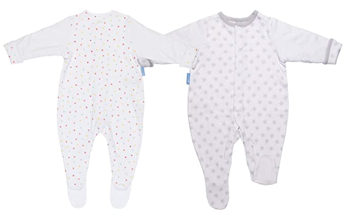 online store 04ead 91879 Grobag GRO-Suit Baby Sleepsuit Silver Star + Be A Dazzler Twin Pack  Multipack 9-12 Months