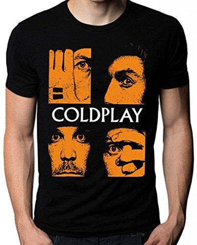 Coldplay Chris Martin Face Music Cold Play Logo T-Shirt