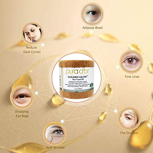 51VbAXxy9WL - PURA D'OR Golden Glow Face Cream PM - Anti Aging Face Cream With Pure 24K Gold for Firmer Skin, Reduced Appearance of Wrinkles and Increased Appearance of Brighter Skin (1.7oz)
