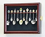 Product review for 10 Spoon Display Case Cabinet Wall Mount Rack Holder w/98% UV Protection Lockable, Cherry