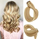 Bleaching Hair Mixed With Conditioner - Vario Clip in Hair Extensions 22Inch 7pcs 70g Set #27/613 Mixed Bleach Blonde Silky Straight 100% Real Remy Human Hair Extensions Balayage Hair