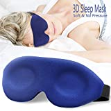 Ergonomic Sleep Mask, New Design Light Blocking Sleeping Mask for Women Men, 3D Contoured Super Soft, Comfortable Adjustable Night Eye Mask for Sleeping, Best Blinder Memory Foam Blindfold for Travel