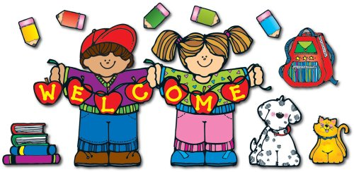 Back To School Bulletin Boards (Carson Dellosa D.J. Inkers Apple Kids Welcome Bulletin Board Set)