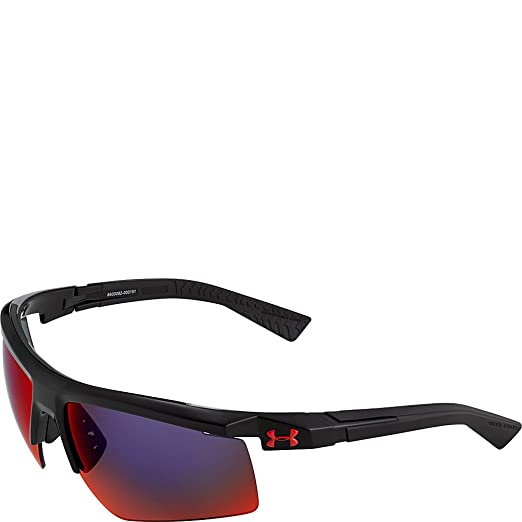 a61f3813f8 Amazon.com   Under Armour Eyewear Core 2.0 Sunglasses (Shiny Black ...