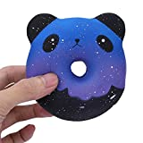 ZOMUSAR Squishies Galaxy Panda Donuts Kawaii Cream Scented Slow Rising Stress Relief Toy (AS Show)