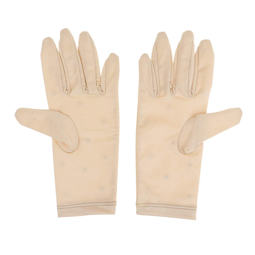 CUTICATE Thermal Figure Skating Gloves With Rhinestones Decoration And Replacement