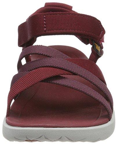 W Rhubarb Red Sanborn Sandal Teva Damen Rot aUwvW6q