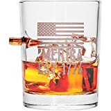 .308 Real Bullet Handblown Whiskey Glass – 'MERICA EST. 1776