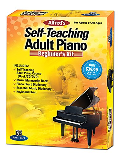 Alfred's Self-Teaching Adult Piano Beginner's Kit: For Adults of All Ages, Boxed Set (Starter Pack) ()