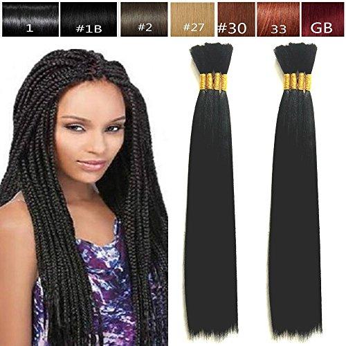 Hot Selling Yaki Bulk Braiding Hair, Human Hair Blend, Braids Hair Extensions for Twists, US SELLER, Length 18
