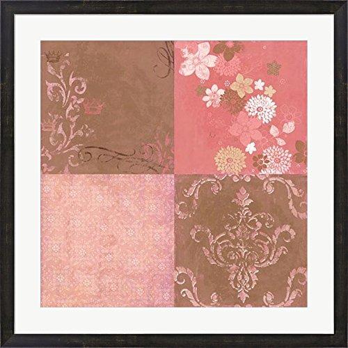 Princess Blossoms by Bohemia Studios Framed Art Print Wall Picture, Espresso Brown Frame, 31 x 31 (Bohemia Walnut)