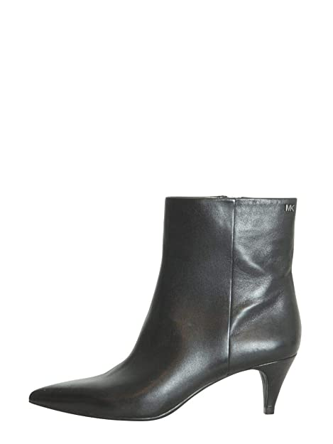 Michael By Michael Kors Mujer 40F8BNME5L001 Negro Cuero Botines: Amazon.es: Zapatos y complementos