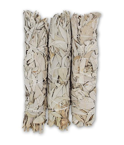 Extra Large California White Sage, Each Stick Approximately 8.5 Inches Long and 1.5 Inches Wide for Smudging Rituals, Energy Clearing, Protection, Incense, Meditation, Made in USA (3 - Extra Large)